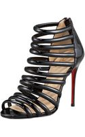 Christian Louboutin Patent String Bootie - Lyst