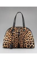 Saint Laurent Leopard-print Tote, Large - Lyst