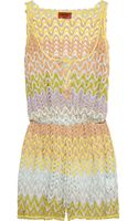 Missoni Borminda Crochet-knit Playsuit - Lyst