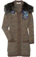 Vanessa Bruno Appliquéd Mohair-blend Cardi-coat - Lyst