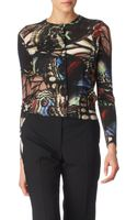 Paul Smith Black Label Butterfly Print Knit Cardi - Lyst