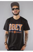Obey The Athletics Basic Tee In Black - Lyst