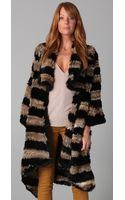 Elizabeth And James Salma Rabbit Fur Coat - Lyst