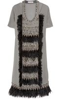 Matthew Williamson Appliquéd Wool-crepe Dress - Lyst