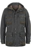 Barbour To Ki To Moss Waxed Cotton Military Jacket - Lyst