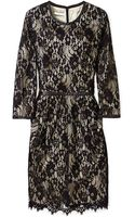 By Malene Birger Senita Lace Overlay Shift Dress - Lyst