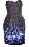 Matthew Williamson Patchwork Cocktail Weave Beaded Cocktail Dress - Lyst
