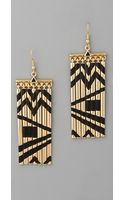 House Of Harlow Fringe Earrings - Lyst