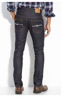 Nudie Jeans Thin Finn Slim Leg Jeans (organic Dry Ecru Wash) - Lyst