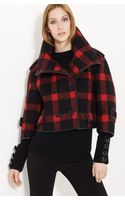 Burberry Prorsum Check Wool Blend Jacket - Lyst