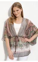 Karen Kane Kimono Sleeve Silk Top - Lyst