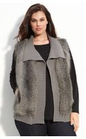 Kenneth Cole Faux Fur Vest (plus) - Lyst