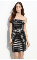 Maggy London Polka Dot Strapless Dress - Lyst