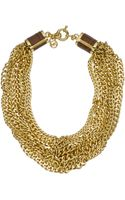 Michael Kors Multi-chain Twist Necklace, Golden - Lyst