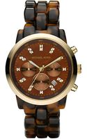 Michael Kors Oversized Tortoise Watch - Lyst