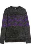 Versus  Metallic Alpaca-blend Sweater - Lyst