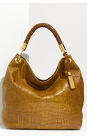 Michael Kors Skorpios - Large Croc Embossed Leather Hobo - Lyst