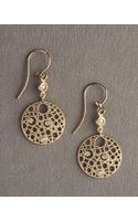 Roberto Coin Circle Diamond Earrings - Lyst