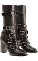 Laurence Dacade Vindy Calf-high Leather Biker Boots - Lyst