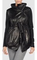 Donna Karan New York Donna Karan - Leather Outerwear - Lyst