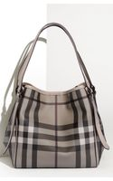 Burberry Small Check Print Tote - Lyst