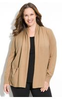 Michael by Michael Kors Open Front Cardigan (plus) - Lyst