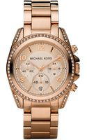 Michael Kors Glitz Chronograph Watch - Lyst