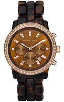 Michael Kors Tortoise Show Stopper Glitz Watch - Lyst