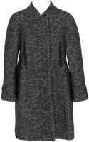 Carven Bouclé Tweed Virgin Wool-blend Swing Coat - Lyst