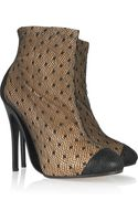 Maison Martin Margiela Leather and Spotted-tulle Ankle Boots - Lyst