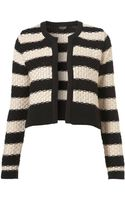 Topshop Knitted Stripe Jacket - Lyst