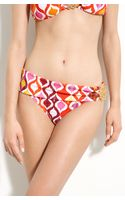 Trina Turk Ogee Asymmetric Sash Hipster Bikini Bottoms - Lyst