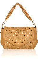 Be & D Garbo Studded Leather Shoulder Bag - Lyst