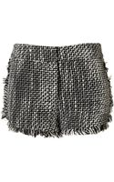 Topshop Fringed Boucle Shorts - Lyst