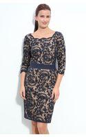 Tadashi Shoji Lace Overlay Sheath Dress - Lyst