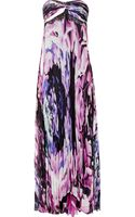 Notte By Marchesa Printed Silk-chiffon Strapless Gown - Lyst