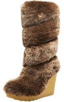 Tory Burch Kiki Shearling Wedge Boot - Lyst