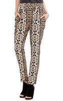 A.L.C. Elson Silk Crepe Pant in Leopard - Lyst
