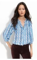 Tucker The Blouse Printed Button Front Shirt - Lyst