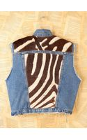 Free People Vintage Printed Zebra Denim Vest - Lyst