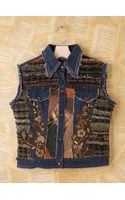 Free People Vintage Ragg Lady Denim Vest - Lyst