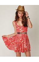 Free People Animal Godet Tank Dress - Lyst