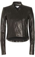 Helmut Lang Lamb Leather Seamed Jacket - Lyst