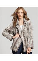Karen Kane Notch-collar Faux Fur Jacket - Lyst