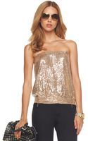 Michael Kors Sequined Tube Top - Lyst