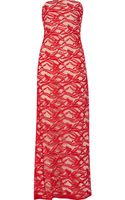 Adam Strapless Lace Gown - Lyst