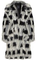 Anna Sui Checked Faux-fur Coat - Lyst