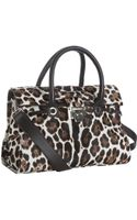Jimmy Choo Ivory Leopard Calf Hair Rosalie Convertible Satchel - Lyst
