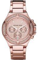 Michael Kors Glitz Watch, Rose Gold - Lyst