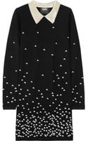 Markus Lupfer Emma Embroidered Merino Wool Dress - Lyst